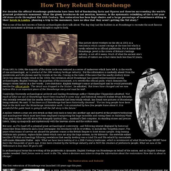 Stonehenge Rebuilt
