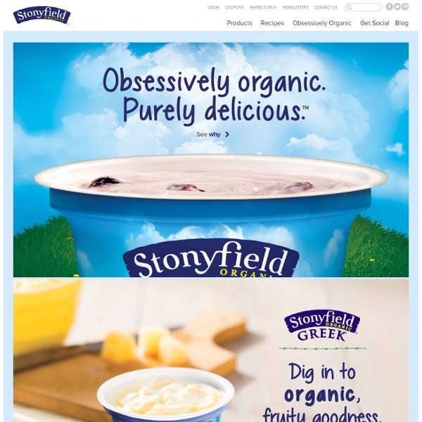 Stonyfield Farm: organic yogurt, organic living, & healthy food