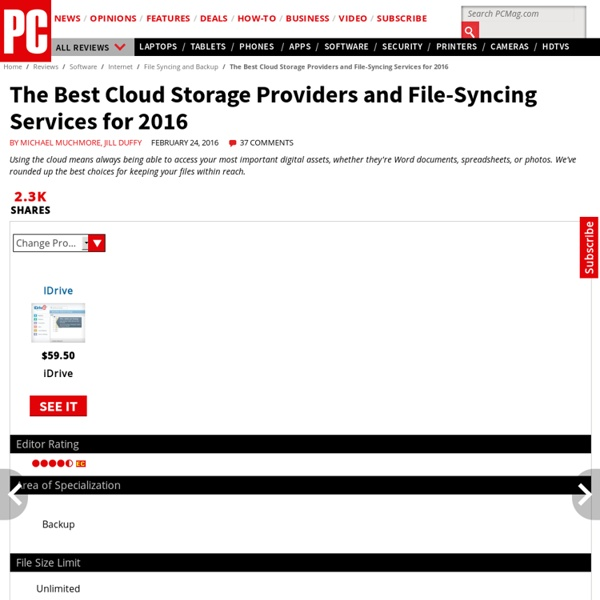 The Best Cloud Storage Solutions