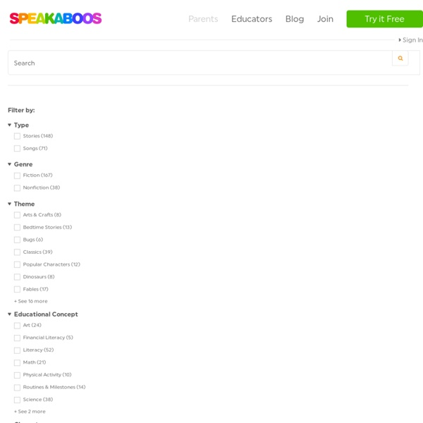 Browse Our Kids' Stories - Speakaboos