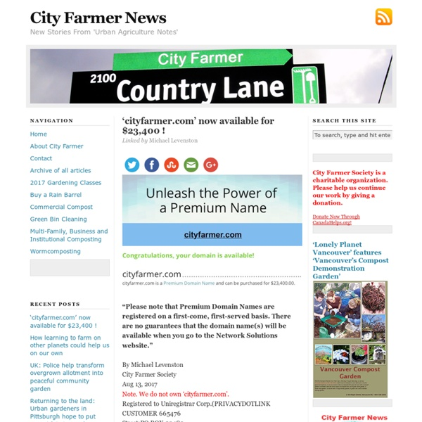 City Farmer News
