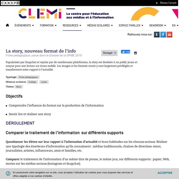 La story, nouveau format de l'info- CLEMI