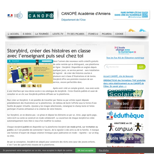 Storybird, créer des histoires en classe avec l'enseignant puis seul chez toi