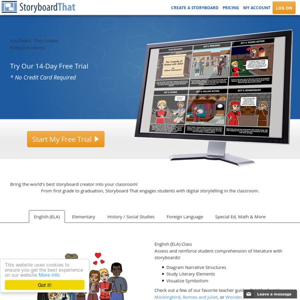 Storyboard That Classroom Edition - Starting at Just $9.95 per month