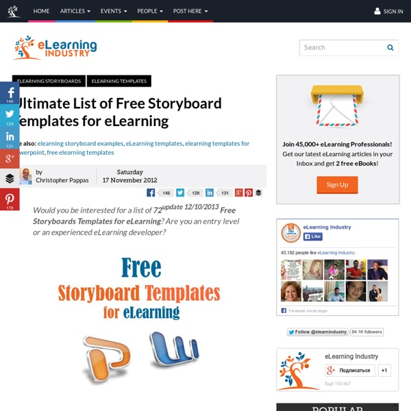 Ultimate List Of Free Storyboard Templates For Elearning Pearltrees