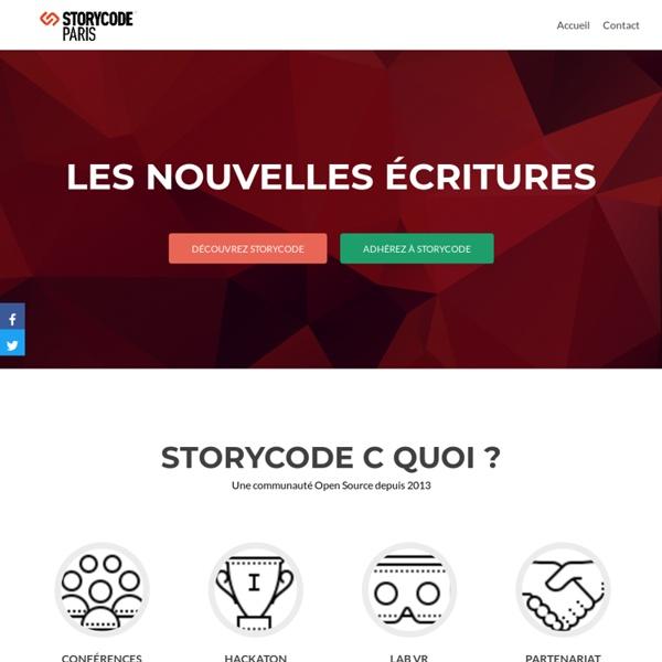 Storycode Paris - La communauté des nouvelles écritures