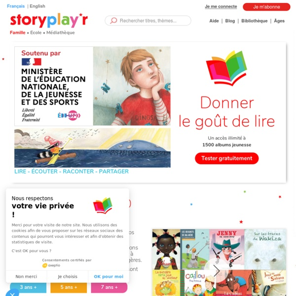 Storyplayr, bibliothèque numérique d'albums jeunesse