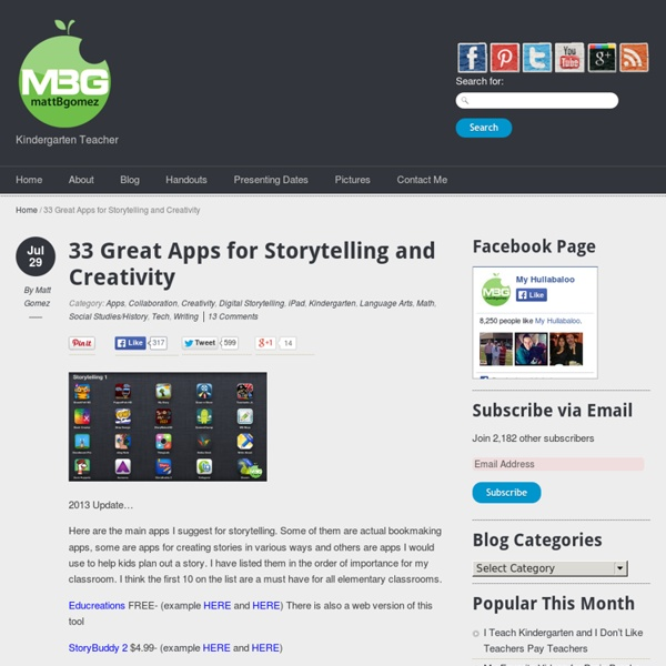 33 Great Apps for Storytelling and Creativity