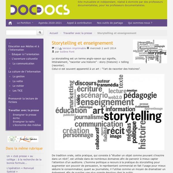 Storytelling et enseignement