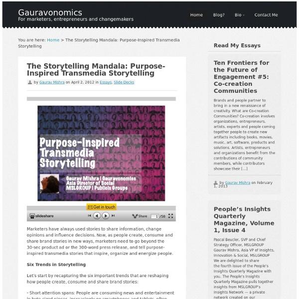 The Storytelling Mandala: Purpose-Inspired Transmedia Storytelling