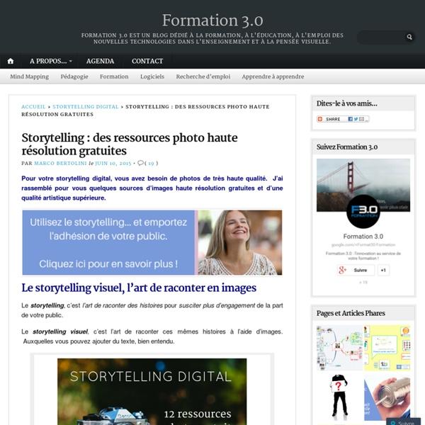 Storytelling : des ressources photo haute résolution gratuites