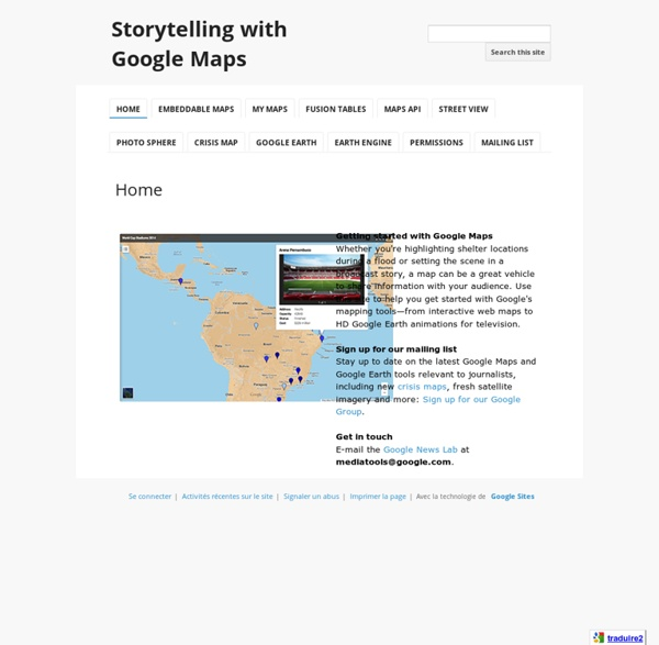 Storytelling with Google Maps