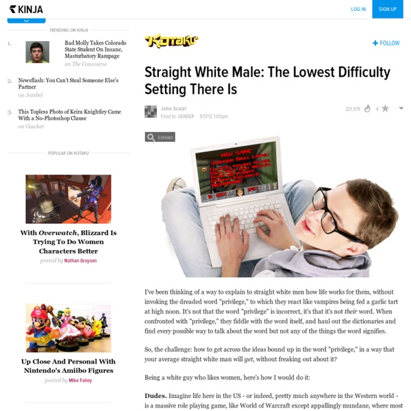 Straight White Male: The Lowest Difficulty Setting There Is