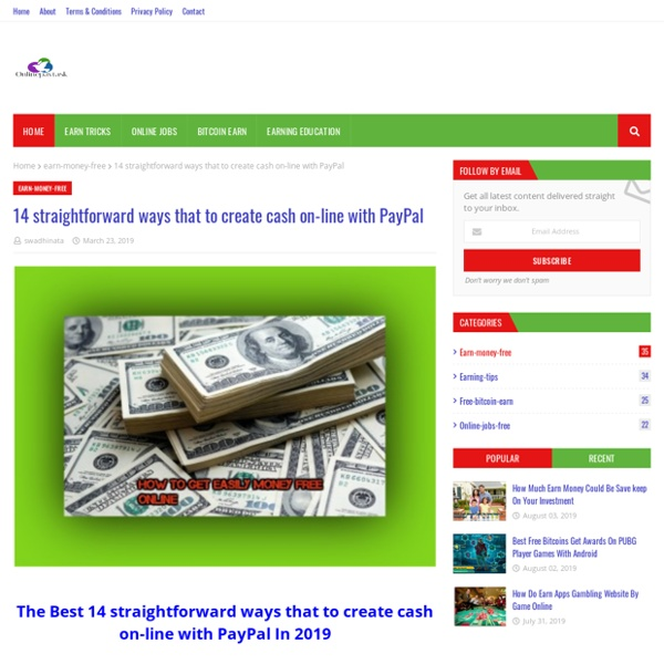 14 straightforward ways that to create cash on-line with PayPal