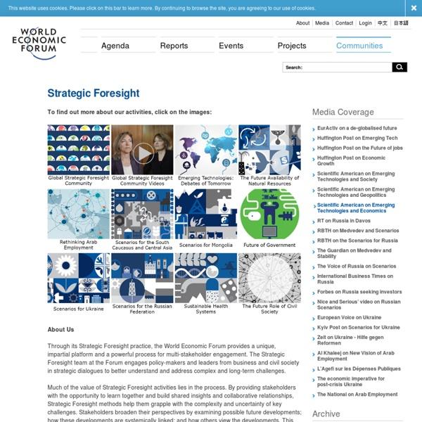 World Economic Forum - Strategic Foresight