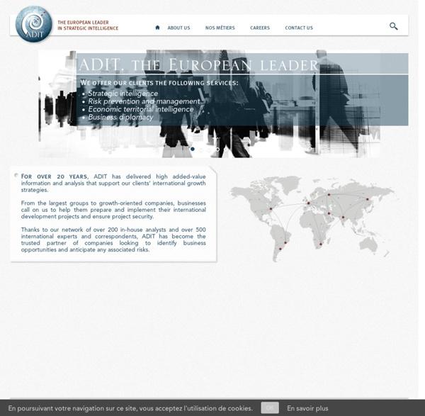 ADIT : Leader européen de l'Intelligence Stratégique