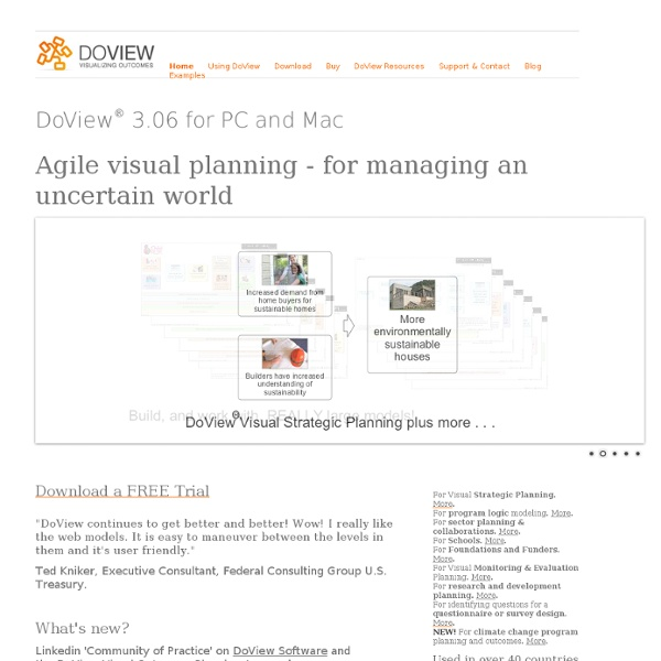 Visual strategic planning and outcomes tool