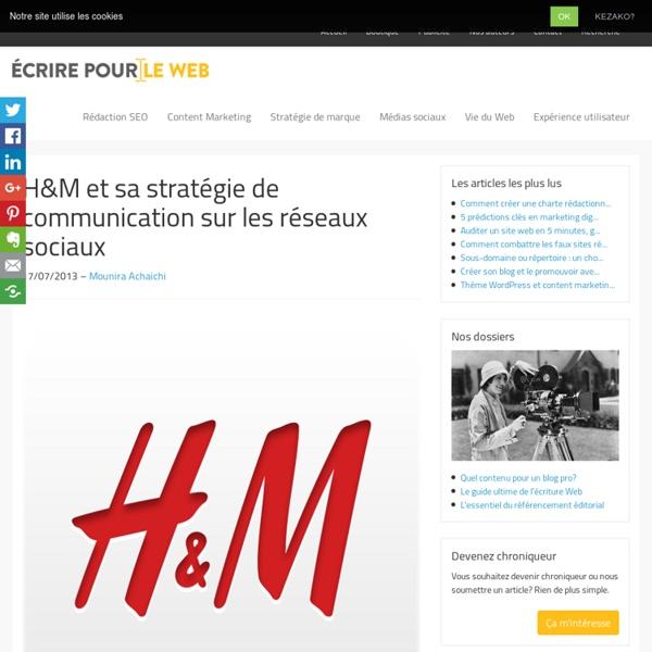 H&M et sa stratégie de communication sur les réseaux sociaux