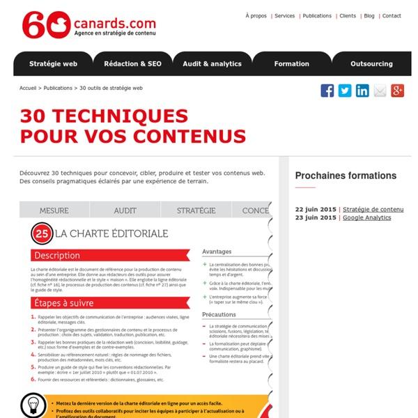 La charte éditoriale ou charte des contenus pour plus d'homogénéité de vos contenus en ligne : que contient-elle