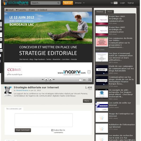 Stratégie éditoriale sur Internet