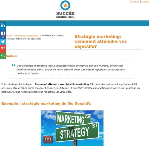 Stratégie marketing : Comment atteindre vos objectifs ?