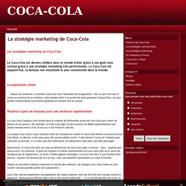 La stratégie marketing de Coca-Cola - COCA-COLA