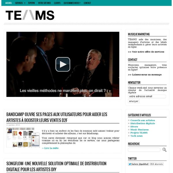 Stratégie Web Marketing pour les artistes musiciens, managers, labels – TEAMS