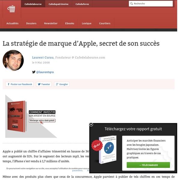 La stratégie de marque d'Apple, secret de son succès