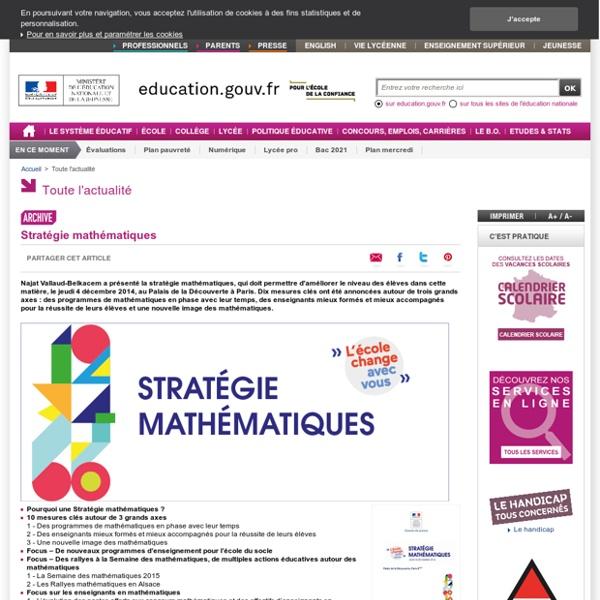 Stratégie mathématiques