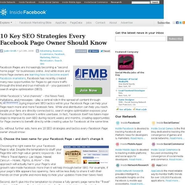 10 Key SEO Strategies Every Facebook Page Owner Should Know