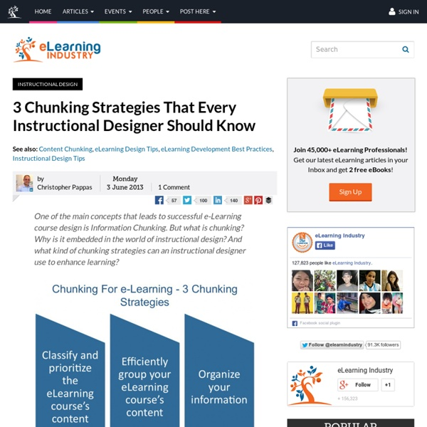 3 Chunking Strategies That Every Instructional Designer Should Know