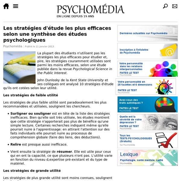Les stratégies d'étude les plus efficaces selon une synthèse des études psychologiques