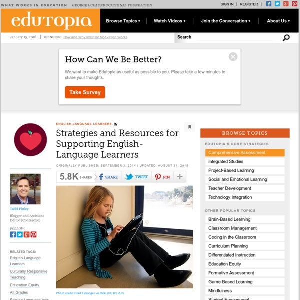 Strategies and Resources for Supporting English-Language Learners