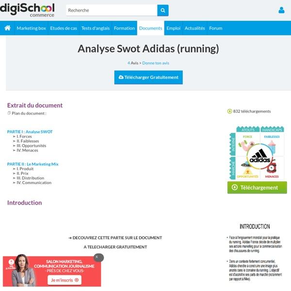 Adidas : analyse stratégique, exposé à télécharger gratuitement