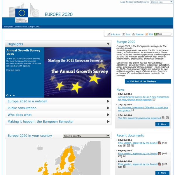 Europe 2020 - EU Strategy for smart, sustainable and inclusive growth