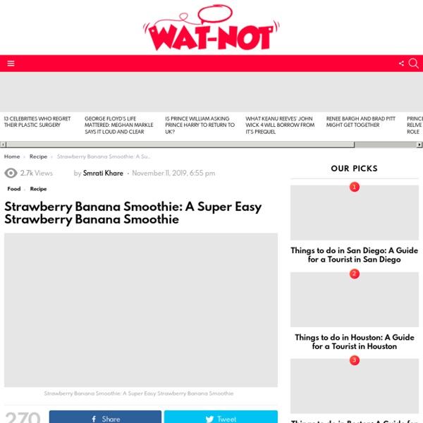 Strawberry Banana Smoothie: A Super Easy Strawberry Banana Smoothie