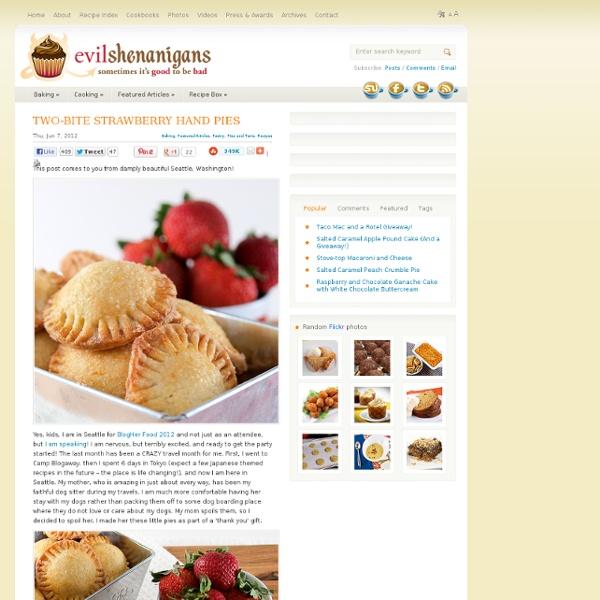Two-Bite Strawberry Hand Pies