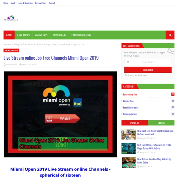 Live Stream online Job Free Channels Miami Open 2019