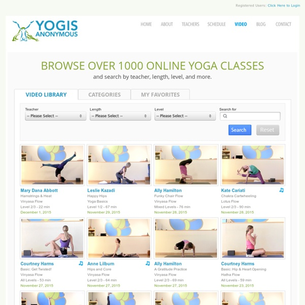 Online Yoga Videos - Streaming Yoga Classes