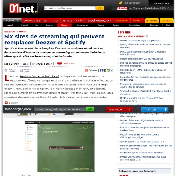 Six sites de streaming qui peuvent remplacer Deezer et Spotify