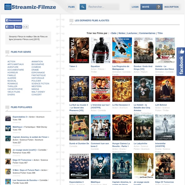 Streamiz Filmze - Films en Streaming 100% Gratuit !