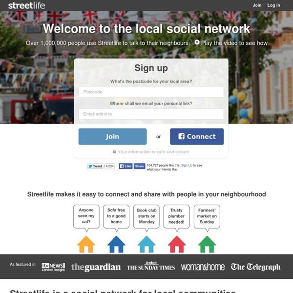 Streetlife - the local social network