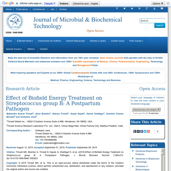 Journal of Microbial & Biochemical Technology