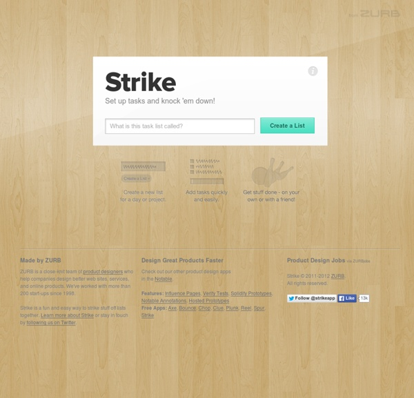 Strike - A fun and easy way to strike stuff off lists