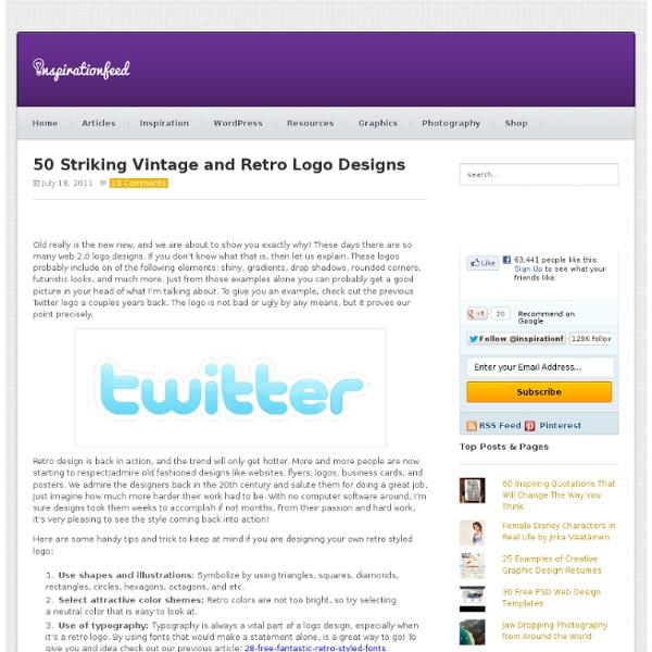 50 Striking Vintage and Retro Logo Designs