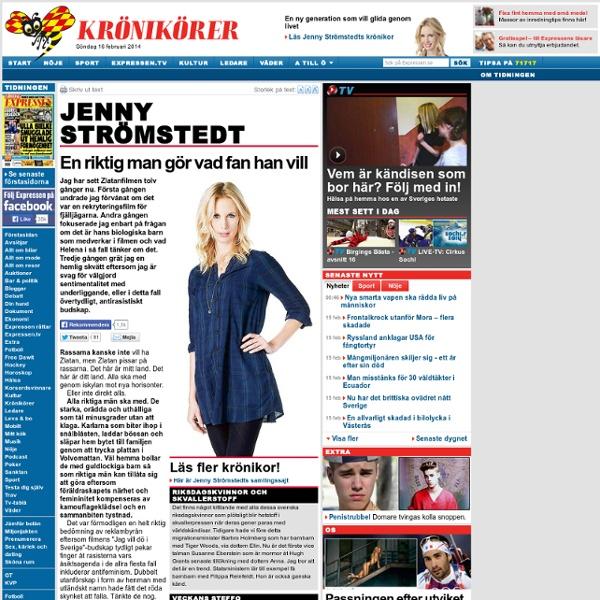 Jenny Strömstedt: En riktig man gör vad fan han vill