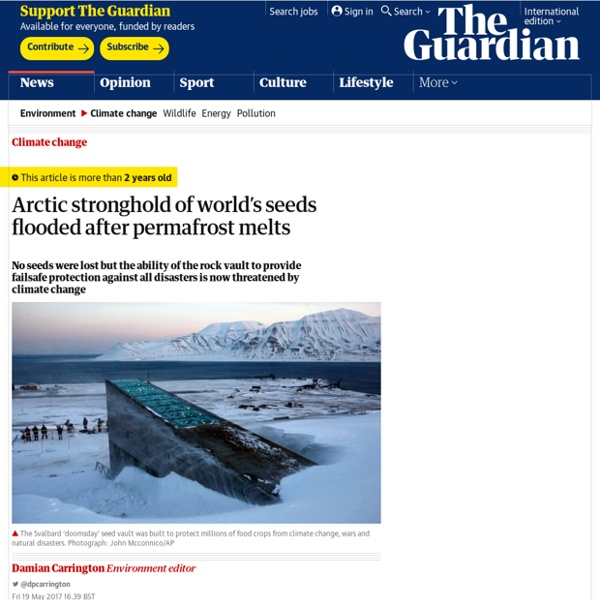 Arctic stronghold of world's seeds flooded after permafrost melts