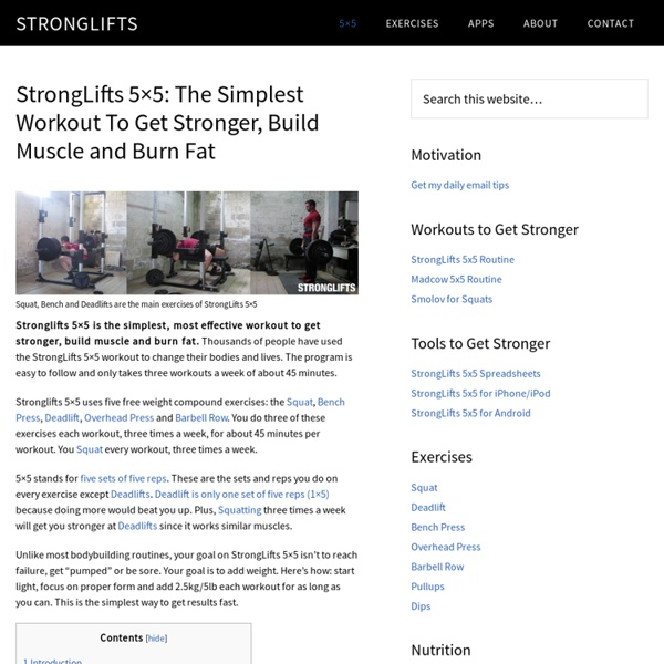 5x5: A Simple Workout To Get Stronger | Pearltrees