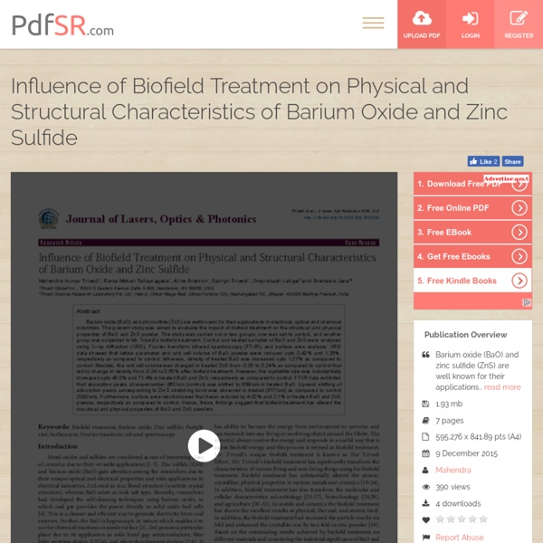 Changes in Characteristics of BaO & ZnS