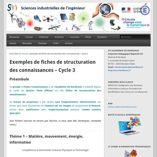 AC Bordeaux fiches connaissances – C3